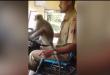 Возач му дозволил на мајмун да го вози автобусот, а на патниците тоа воопшто не им пречело