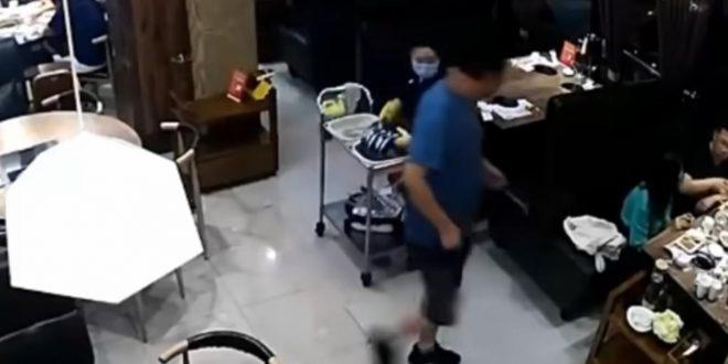 Направил сцена во ресторан: Ја нокаутирал сопругата затоа што седела со двајца мажи
