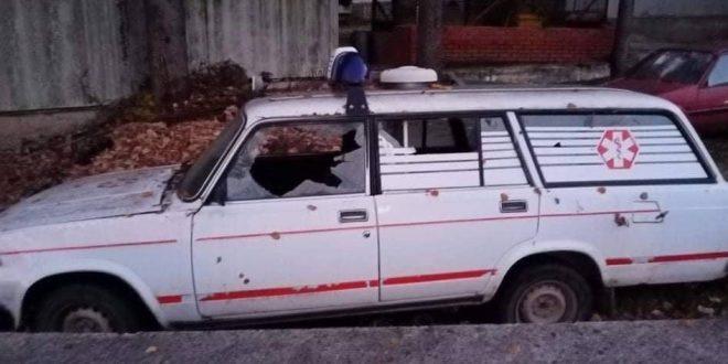 Искшено возило на брзата помош во Вевчани