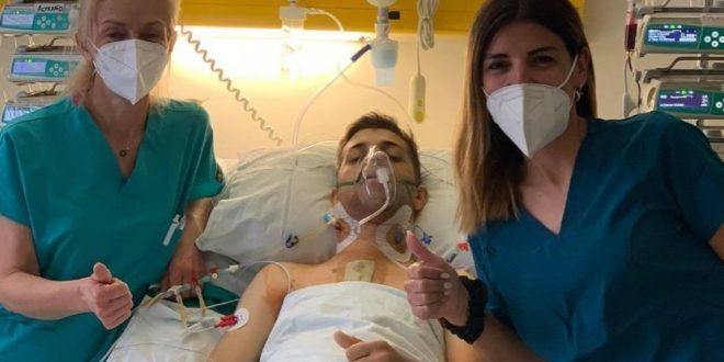 Д-р Стефанија Хаџиевска, анестезиолог на клиниката за Државна кардиохирургија по трансплантацијата на срцето кое му го продолжи животот на младиот Илија Стрезовски